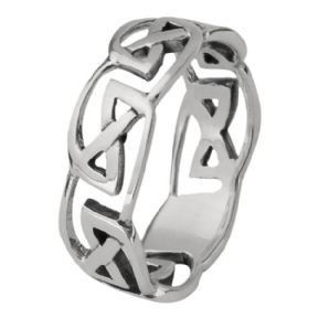 Celtic Knotwork Silver Ring 0079